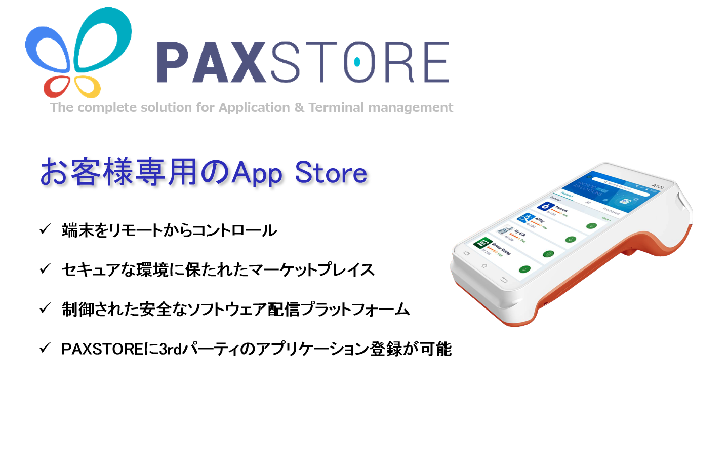 PAX A620 PAYサービス A6 リンク・プロセシング